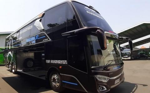 Foto dan Video Bus Double Decker VOYAGER Pandawa 87