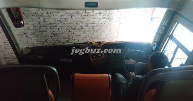 Interior Bus Jetbus 3+ Putra Perdana Wonosobo