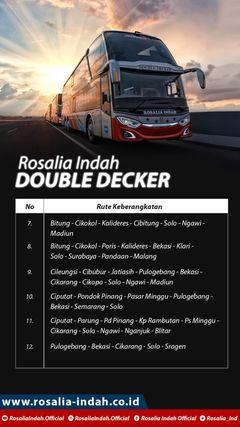 Jurusan Double Decker Rosalia Indah
