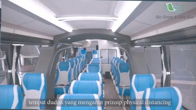 Tempat Duduk 1 1 1 Bio Smart And Safe Bus Laksana
